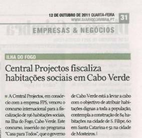 Central Projectos fiscaliza habitações sociais em Cabo Verde