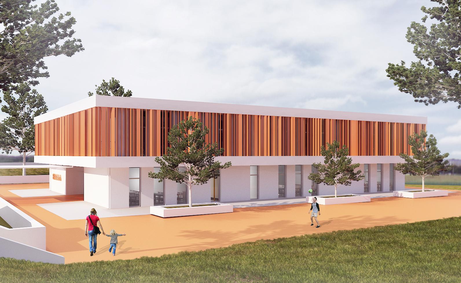 Requalificação e modernização da Escola Básica do Campo de Besteiros na Rua da Escola – Campo de Besteiros - Tondela. | BLOCO A & BLOCO C